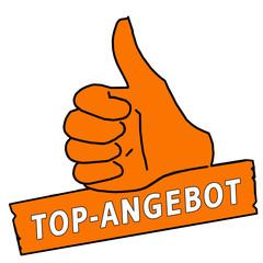 tus41 ThumbUpSign tus-v6 Daumen hoch Top-Angebot - orange g2141