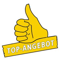 tus42 ThumbUpSign tus-v6 Daumen hoch Top-Angebot - gelb g2142