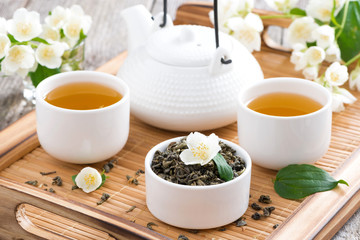 tea ceremony - green tea with jasmine