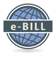 Abstract stamp or label with the text E-Bill