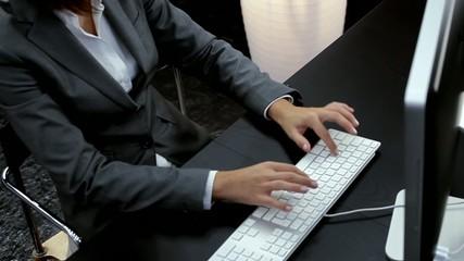 Businesswoman working at computer