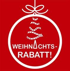 """""""Weinachtsrabatt"""" Plakat Karte Schild"""