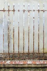 rust steel fence