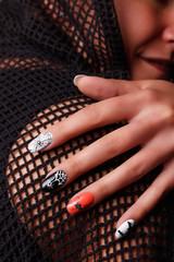 Portrait of beautiful Halloween nails