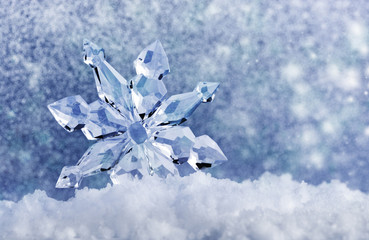 ice crystal on snow