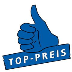 tus43 ThumbUpSign tus-v7 Daumen hoch - Top-Preis - blau g2143
