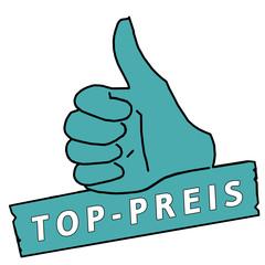 tus44 ThumbUpSign tus-v7 Daumen hoch - Top-Preis - türkis g2144
