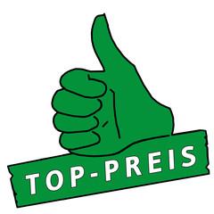 tus45 ThumbUpSign tus-v7 Daumen hoch - Top-Preis - grün g2145