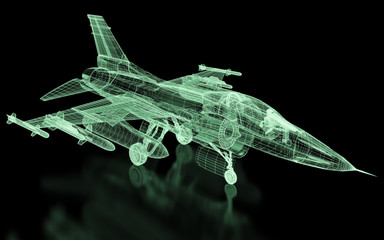 Jet Fighter Aircraft  Mesh