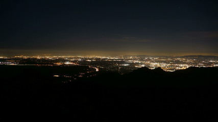 Los Angeles Mountain View Dusk to Night Time Lapse