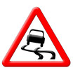 Slippery road traffic sign - 71902427