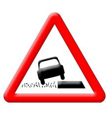 Various ground warning traffic sign
