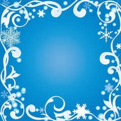 Abstract winter frame
