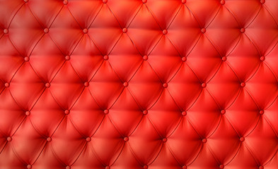 Luxury red leather cushion close-up background