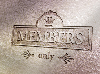 Members only - Krone - Metall