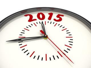 2015 год. Стрелочные часы с надписью