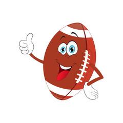 Cartoon American football pointing