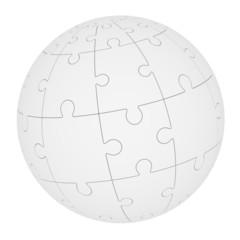 Сфера из элементов игры-головоломки Пазл