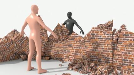 Crollo del muro tra razze