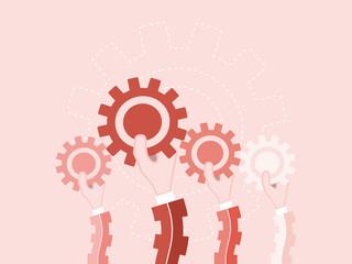 Business team concept. Flat design illustration