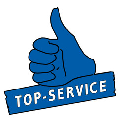 tus49 ThumbUpSign tus-v8 Daumen hoch - Top-Service - blau g2149