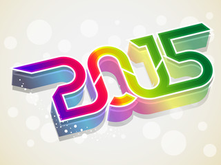 happy new year three d background
