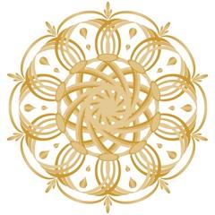 Gold symmetrical geometric star