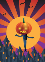 Halloween Party Poster and  Greeting Card