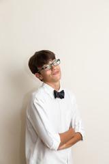 boy with bow tie jokes