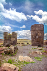 Sillustani - pre-Incan burial ground (tombs) on the shores of La