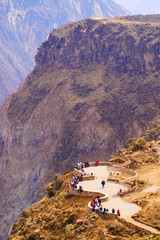 Peru, Colca canyon. the secend wolds deepest canyon at 3191m.