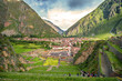 Ollantaytambo, old Inca fortress in the Sacred Valley in the And