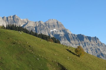 Glaernisch , high mountain in Glarus