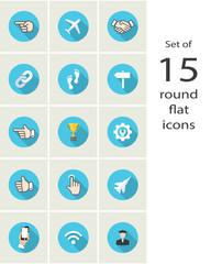 round flat icons