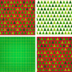 Stylized Christmas patterns set
