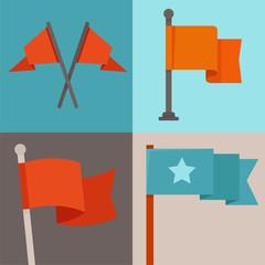 Vector set of flag design elements