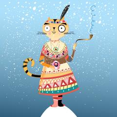 cat Indian winter