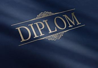 Diplom - Leder - Ornament B