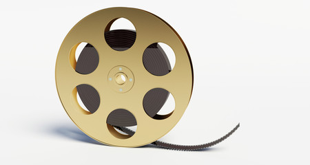 film reel with a film strip