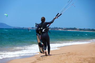 Kitesurfing girl