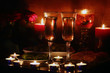 romantic evening by candlelight