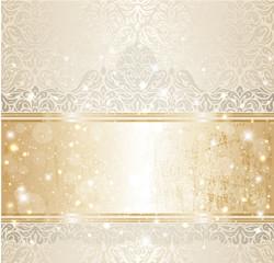 Bright shiny luxury vintage invitation pattern background