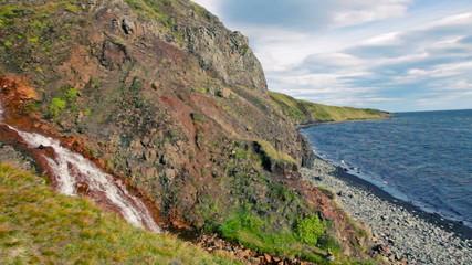 Hvitserkur, shore of Vatnsnes peninsula in Northwestern Iceland