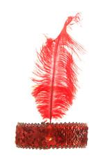 red flapper girl fancy dress head dress