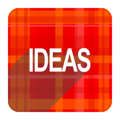 ideas red flat icon isolated