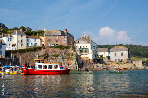 Leinwanddruck Bild Cawsand Cornwall