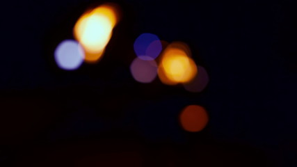 Active movement of the light body on a black background.