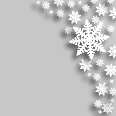 Silver Christmas snowflake background