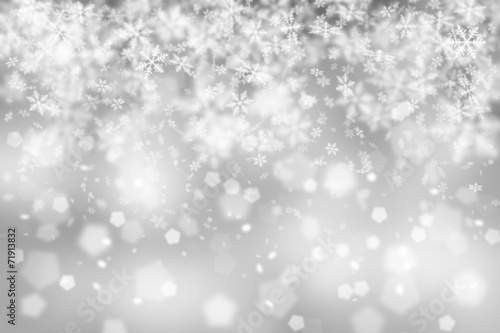 canvas print picture Silver abstract blurry snowflake