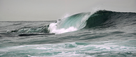 Wave breaks on a shallow bank